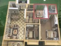 出售金色华府二期3室2厅2卫114平米118万住宅